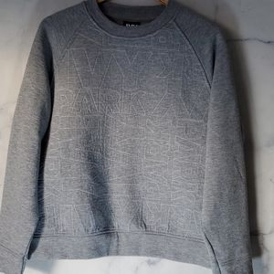 Ivy Park Grey Quilted Crew Neck Sweater